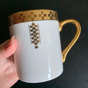Vintage Tiffany & Co. Imperial White and Gold Mug